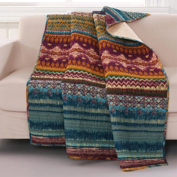 Southwest Multicolored Quilted Cotton Throw