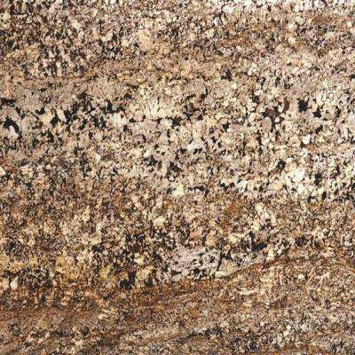 3 in. x 3 in. Granite Countertop Sample in Delicatus Gold