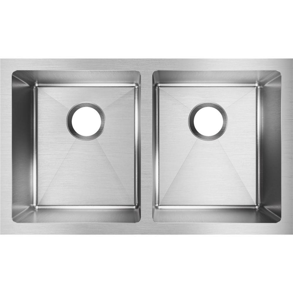 Elkay Crosstown Undermount Stainless Steel 31 In Double Bowl Kitchen Sink