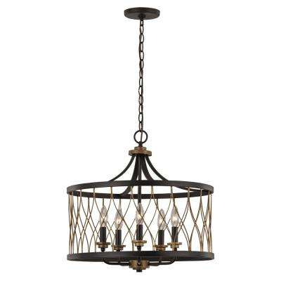 Tahoe 5-Light Rubbed Oil Bronze Pendant