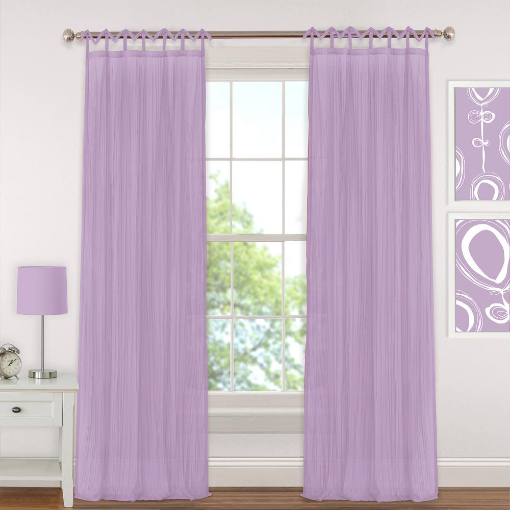 L Polyester Sheer Window Curtain PaneL