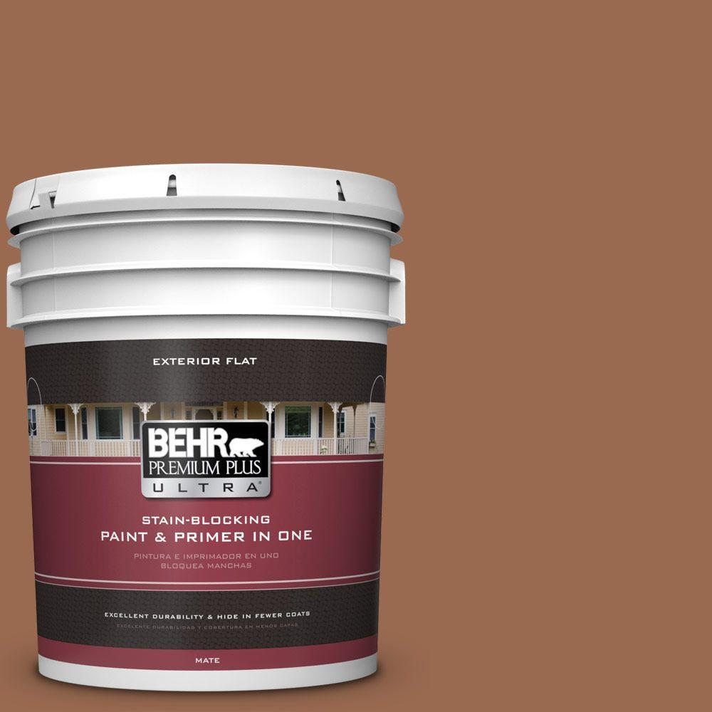 BEHR Premium Plus Ultra 5-gal. #PMD-88 Sorrel Brown Flat Exterior Paint
