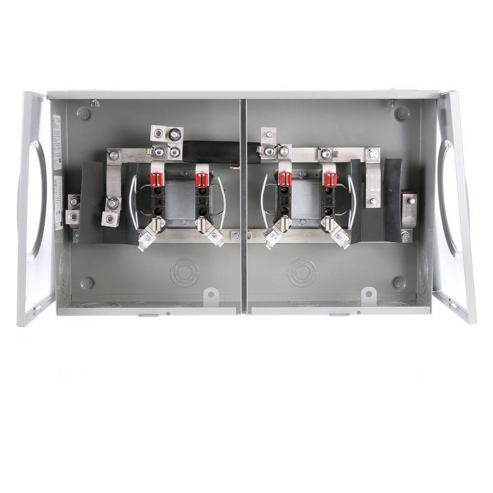 null 100 Amp Ringless Horn-Bypass Overhead/Underground Meter Socket