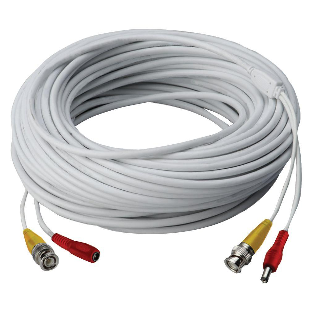 60 ft. High Performance In-Wall UL/cUL Rated BNC Video/Power Cable for