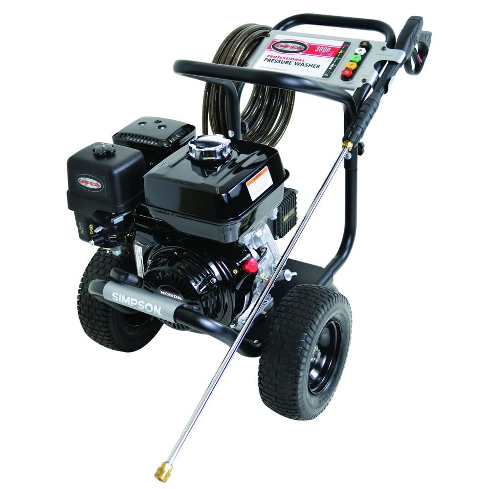 Simpson PowerShot 3,800 psi 3.5 GPM Gas Pressure Washer Powered by Honda