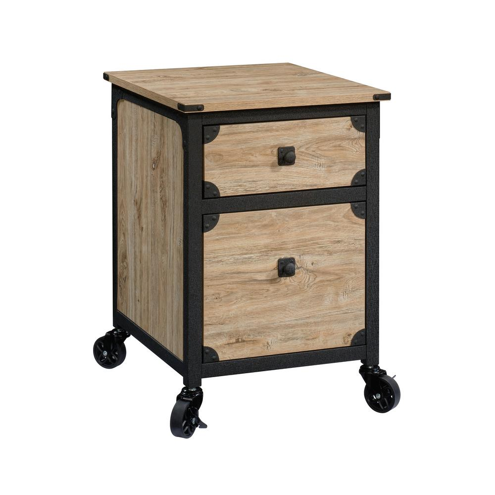 SAUDER Steel River Milled Mesquite Engineered Wood File Cabinet with  Casters-34 - The Home Depot