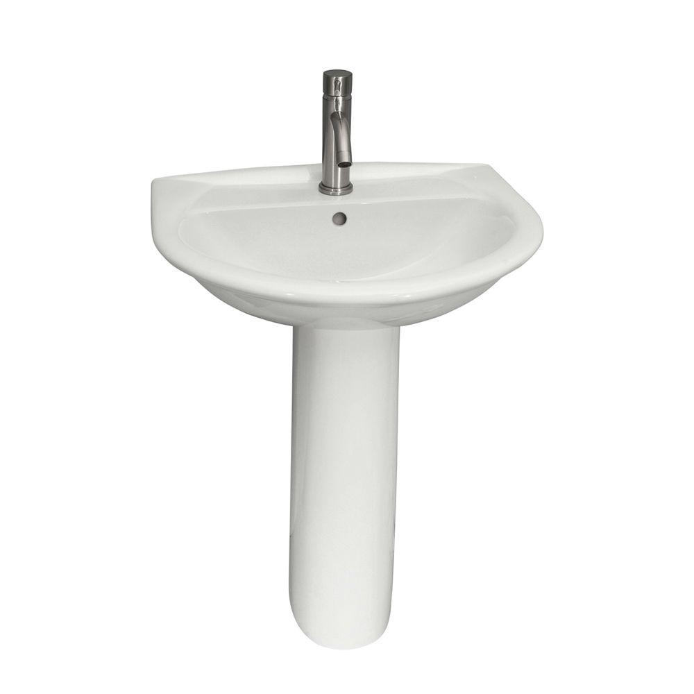 Barclay products karla 550 pedestal combo bathroom sink in - Home depot bathroom pedestal sinks ...