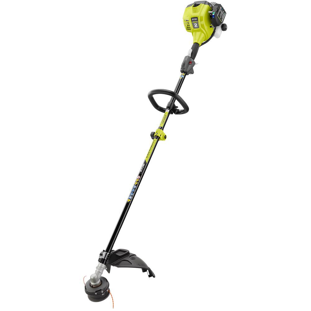 Ryobi 25cc 2 Cycle Attachment Capable Full Crank Straight Gas Shaft String Trimmer Ry253ss The Home Depot