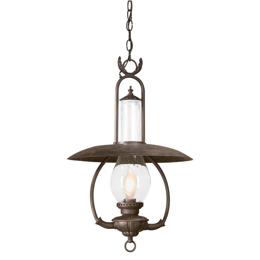 troy lighting la grange 1 light old bronze outdoor pendant fcd9013obz the home depot. Black Bedroom Furniture Sets. Home Design Ideas