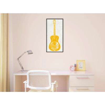 """12 in. W x 24 in. H """"Guitar Collector IV"""" by Kevin Inge Framed Art Print"""