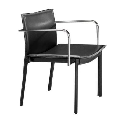 Julia Black Leatherette Conference Chair (Set of 2)