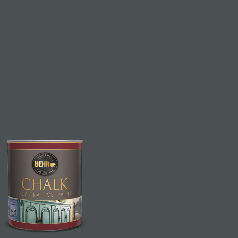 BEHR 1 qt. #PPU26-01 Satin Black Interior Chalk Decorative Paint