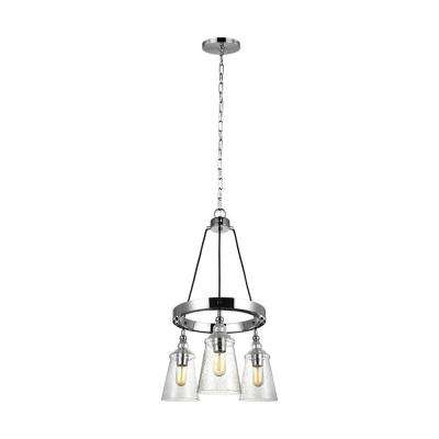 Loras 3-Light Chrome Chandelier