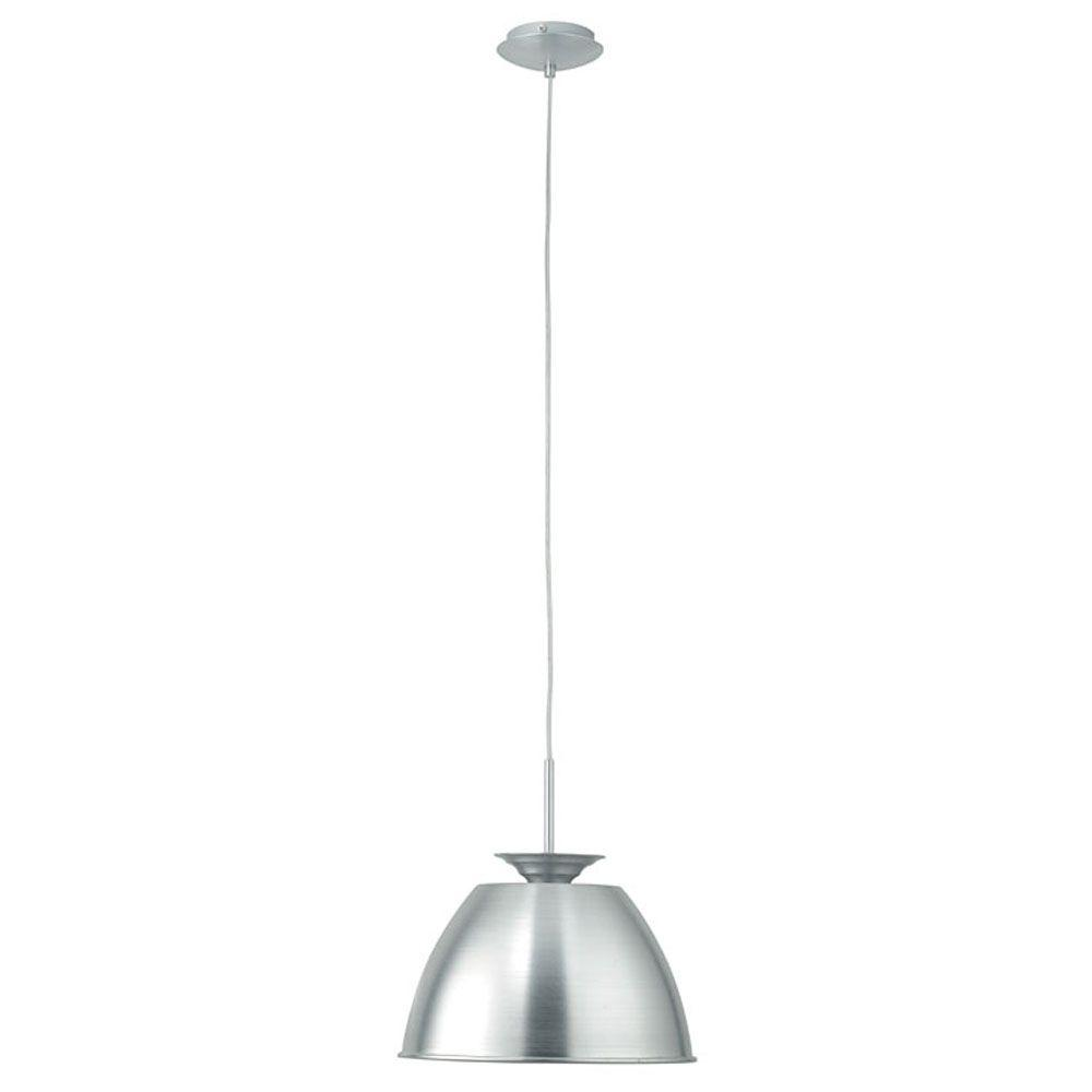 Eglo Siren 1-Light Chrome and Lacquered Aluminum Pendant