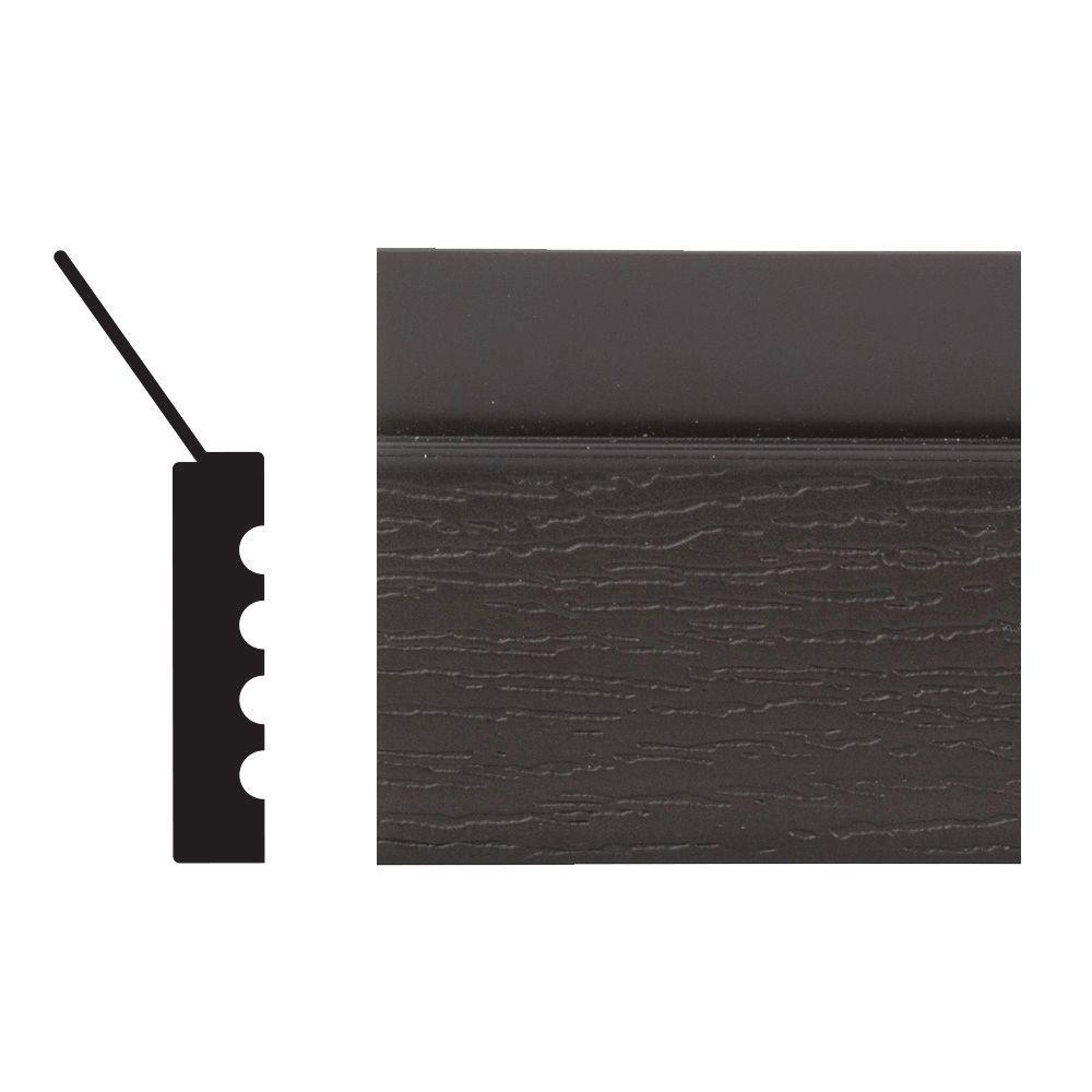 2149 7/16 in. x 2 in. x 84 in. PVC Composite Ideal Brown Garage Door Stop Moulding