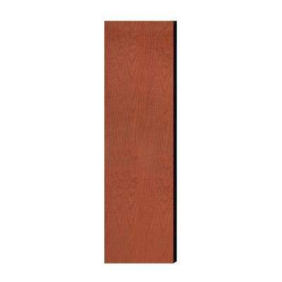 Laminate Double End Side Panel for 18 in. D Extra Wide Designer Wood Locker without Sloping Hood in Cherry