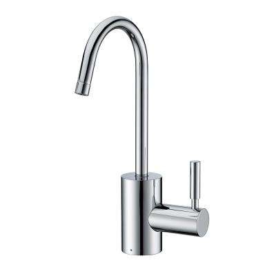 Single Handle Cold Water Dispenser with Contemporary Spout in Polished Chrome