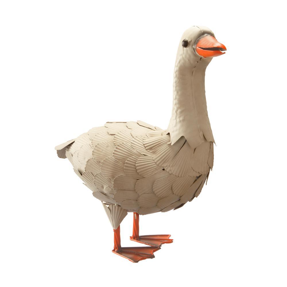 16 in. Metal Goose