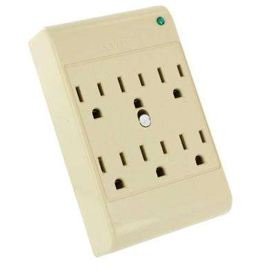 15 Amp 120-Volt 6-Outlet Adapter Surge Protected 540 Joules, Beige