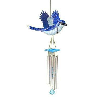 Large WindyWings Blue Jay Wind Chime