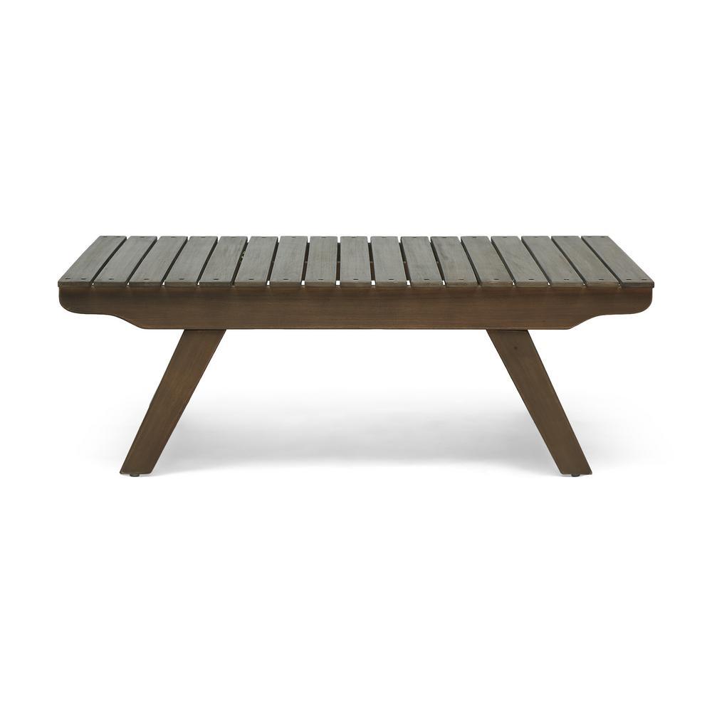 Sedona Grey Rectangular Acacia Wood Outdoor Coffee Table
