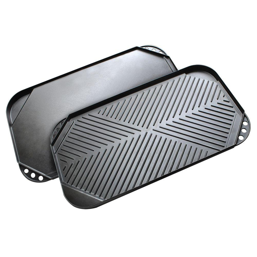 Cast Aluminum Grill Griddle with Nonstick Coating