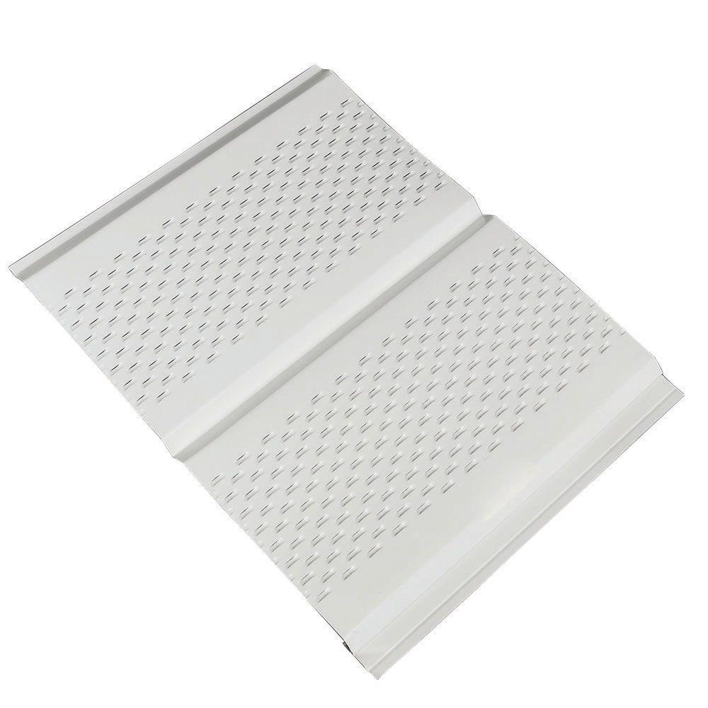Amerimax Home Products 12 in  x 12 ft  Aluminum Soffit Vent in White. Amerimax Home Products 12 in  x 12 ft  Aluminum Soffit Vent in