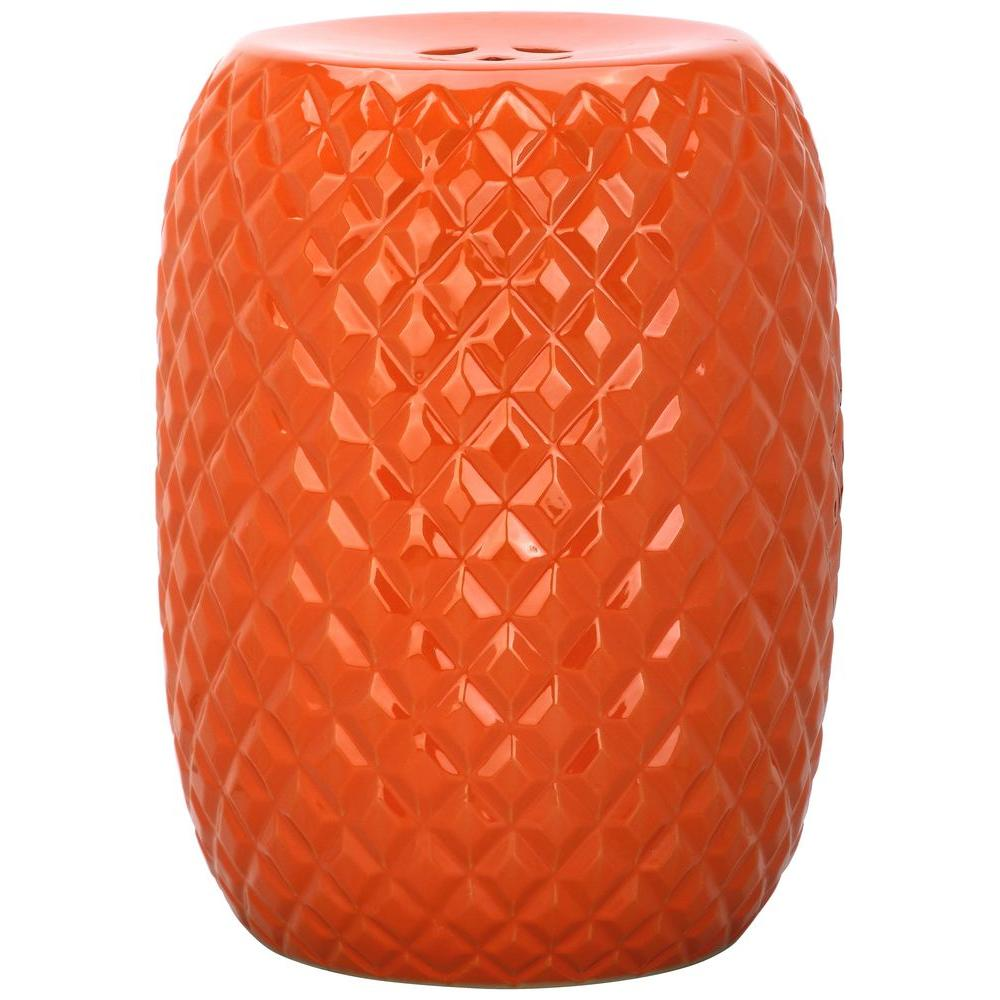 Calla Orange Patio Stool