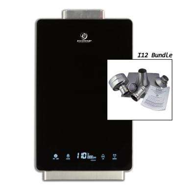 Eccotemp i12 4.0 GPM WholeHome 80,000 BTU Natural Gas Indoor Tankless Water Heater Vertical Bundle