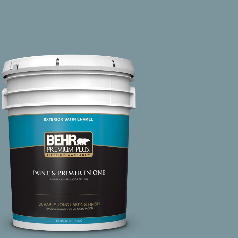 5-gal. #ECC-56-3 Lake View Satin Enamel Exterior Paint