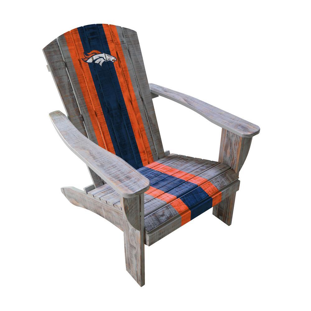 Denver Broncos Wood Adirondack Chair