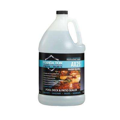 1 gal. Siloxane Infused Solvent Based High Gloss Acrylic Concrete Sealer, Paver Sealer and Pool Deck Sealer