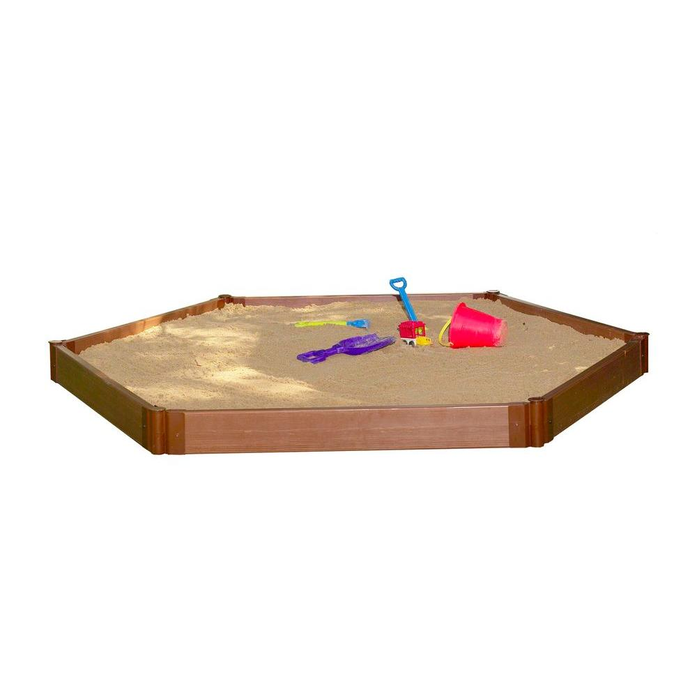 Frame It All Two Inch Series 7 ft. x 8 ft. x 5.5 in. Composite Hexagon Sandbox Kit