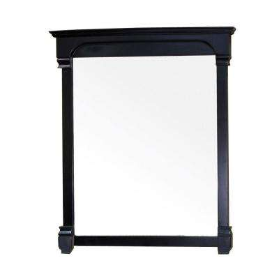 Marvin 42 in. L x 42 in. W Solid Wood Frame Wall Mirror in Espresso