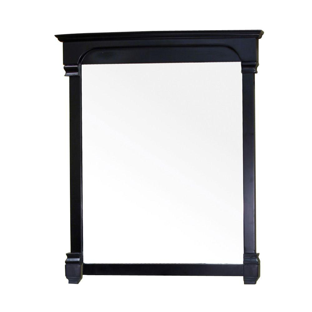 Espresso wood floor mirror