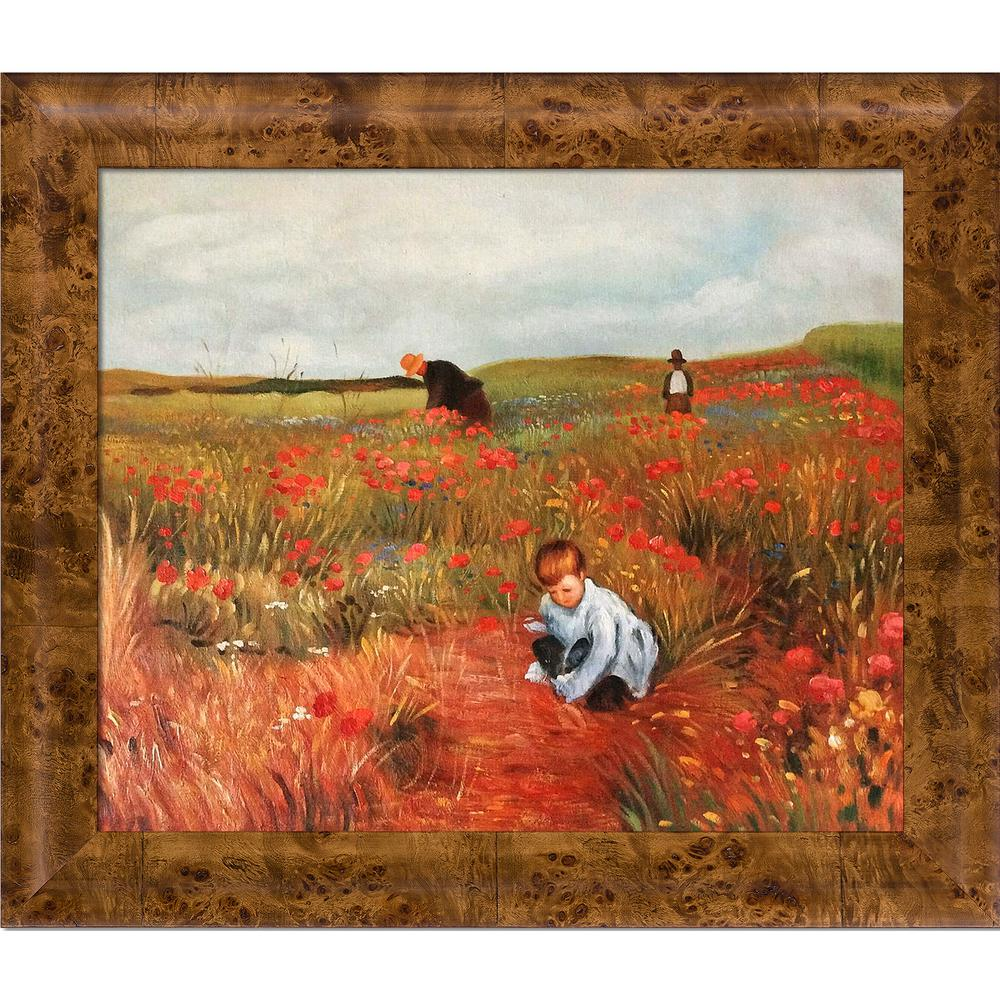 LA PASTICHE Les Coquelicots with Havana Burl Frameby Mary Cassatt Oil Painting, Multi-Colored was $1246.0 now $486.06 (61.0% off)