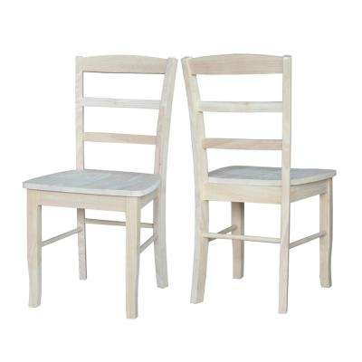 Unfinished Madrid Ladderback Dining Chairs (Set of 2)
