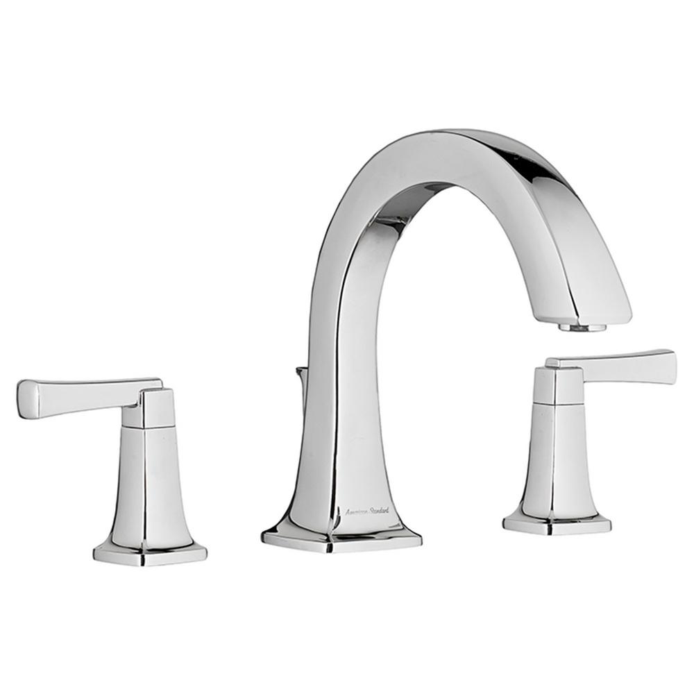 American Standard Townsend 2-Handle Deck-Mount Roman Tub Faucet for Flash Rough-in Valves in Polished Chrome