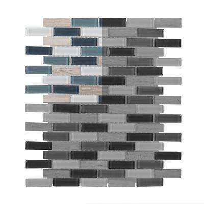 Dolphin Tail 3 in. x 6 in. x 6 mm Glass Mosaic Tile Sample