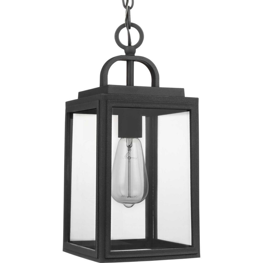 Grandbury 1-Light Black Outdoor Pendant Light Hanging Lantern
