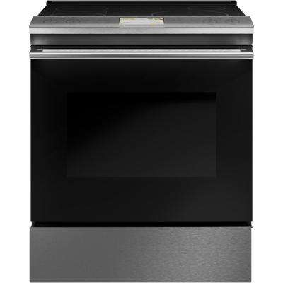 30 in. 5.7 cu. ft. Smart Slide-In Electric Range with Self-Cleaning Convection Oven in Platinum Glass