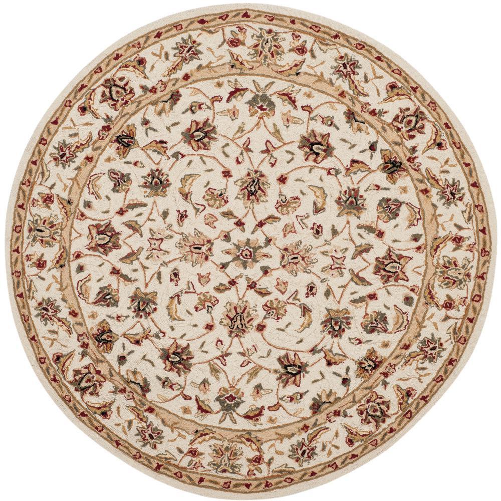 safavieh chelsea ivory 3 ft x 3 ft round area rug hk78c 3r the home depot. Black Bedroom Furniture Sets. Home Design Ideas