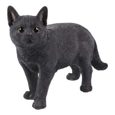 Black Cat Walking Statue