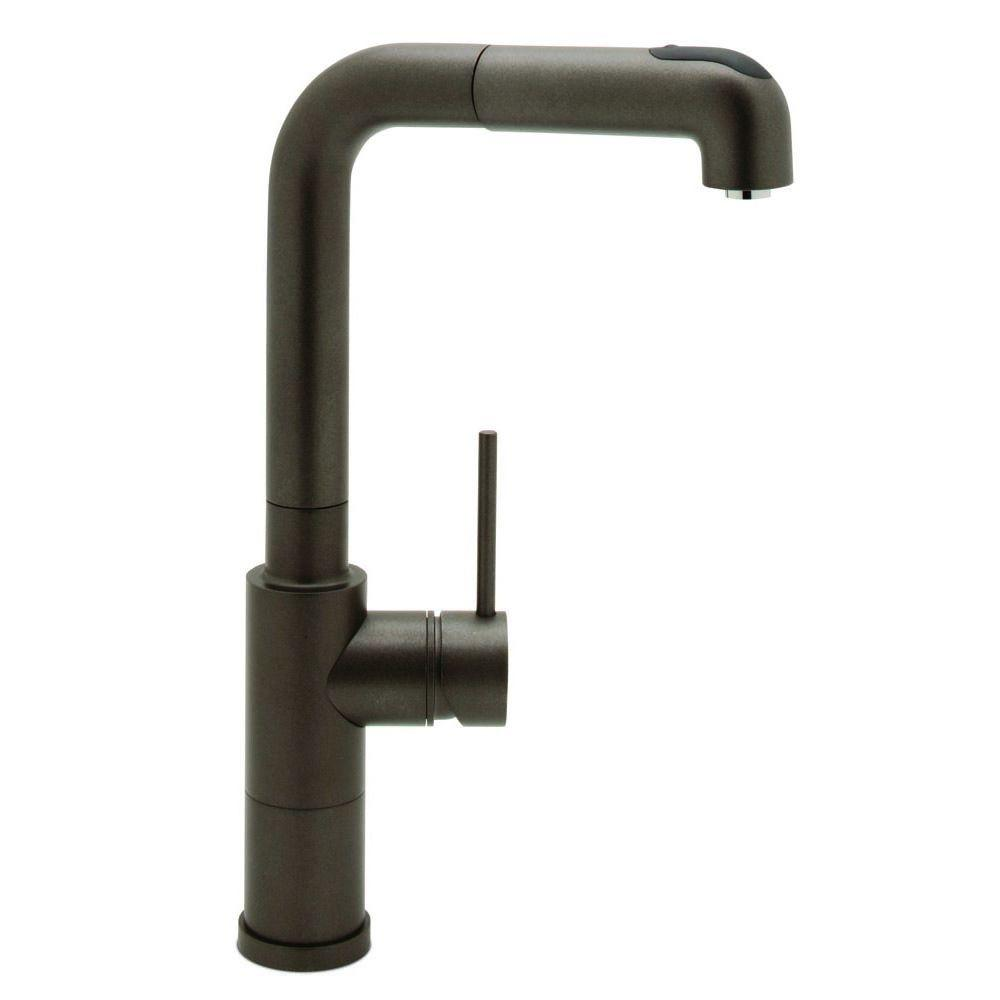 Blanco Acclaim Single-Handle Pull-Out Sprayer Kitchen Faucet in Cafe Brown