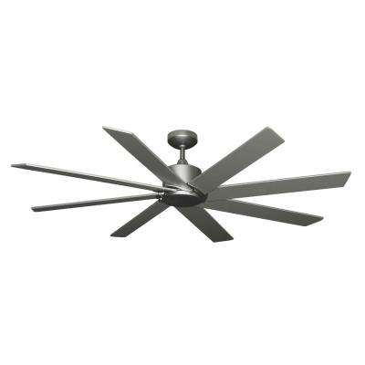 Northstar 60 in. LED Light Brushed Nickel BN-1 Ceiling Fan with Remote Control