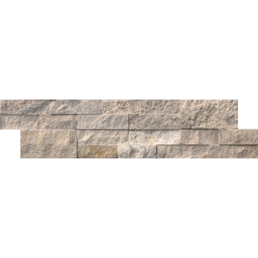 Philadelphia Ledger Panel 6 in. x 24 in. Natural Travertine Wall Tile (10 cases / 60 sq. ft. / pallet)