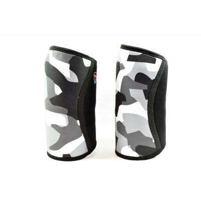 7mm Neoprene Small Support and Compression Knee Sleeves for Weightlifting, Powerlifting and CrossFit in Camo - 1 Pair
