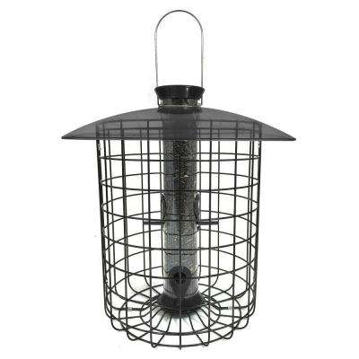 15 in. Sunflower Squirrel-Proof Domed Cage Bird Feeder