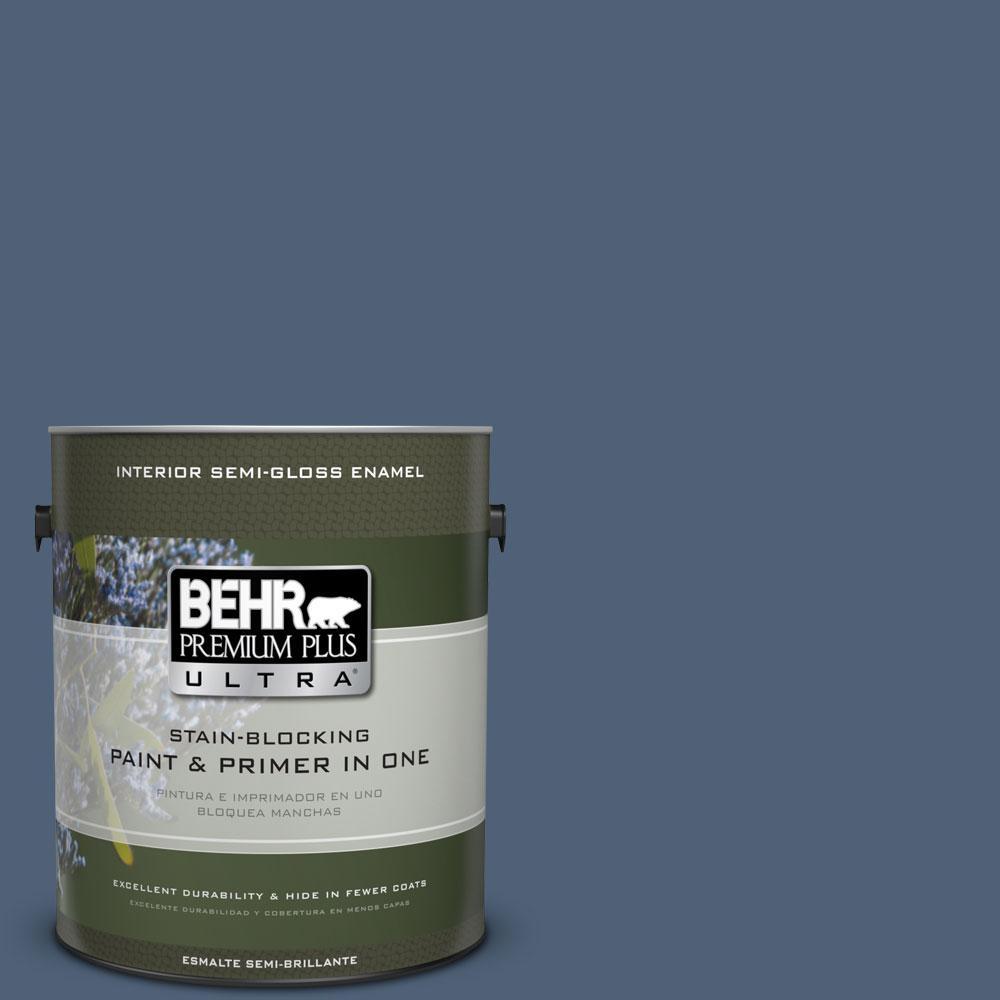 BEHR Premium Plus Ultra 1 gal. #BIC-52 Loyalty Semi-Gloss Enamel Interior Paint