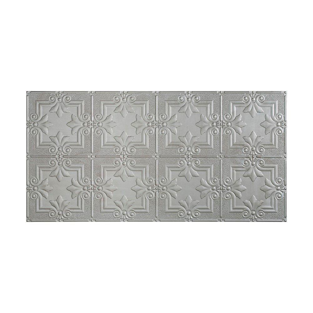 Regalia 2 ft. x 4 ft. Glue-up Ceiling Tile in Argent